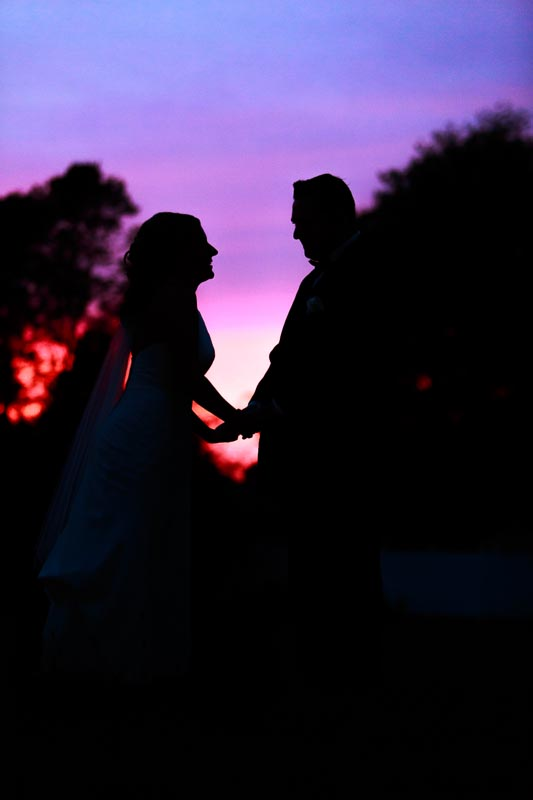 Sunset Bride and Groom silhouette