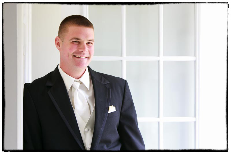 Western Mass wedding photography groom portrait