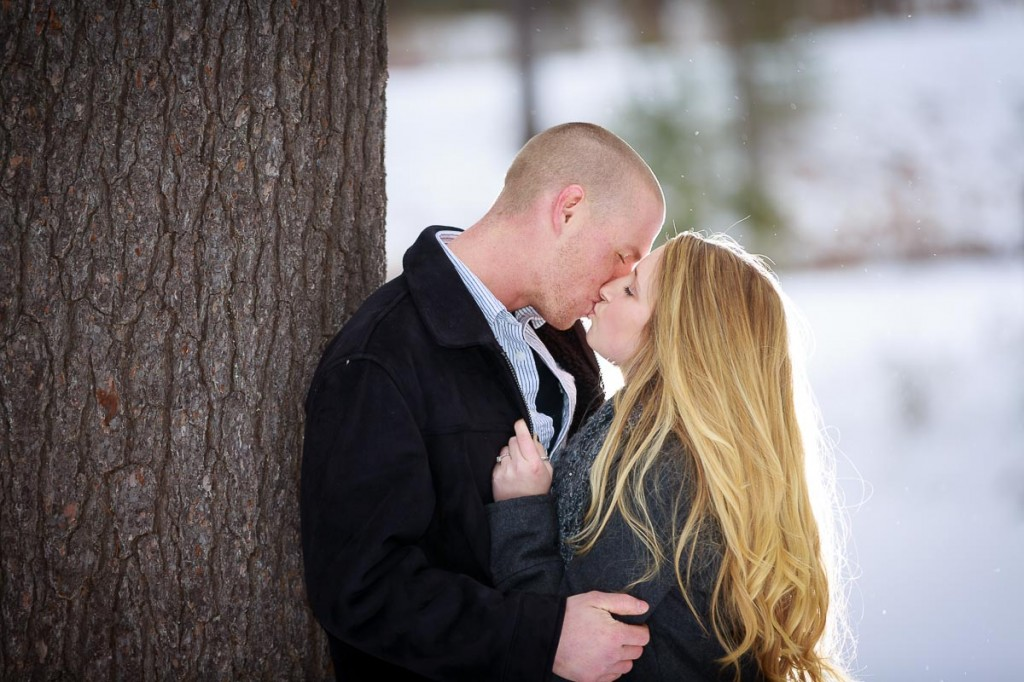 Snowy engagement photos at Look Park Northampton, Western Massachusetts Engagement Photography
