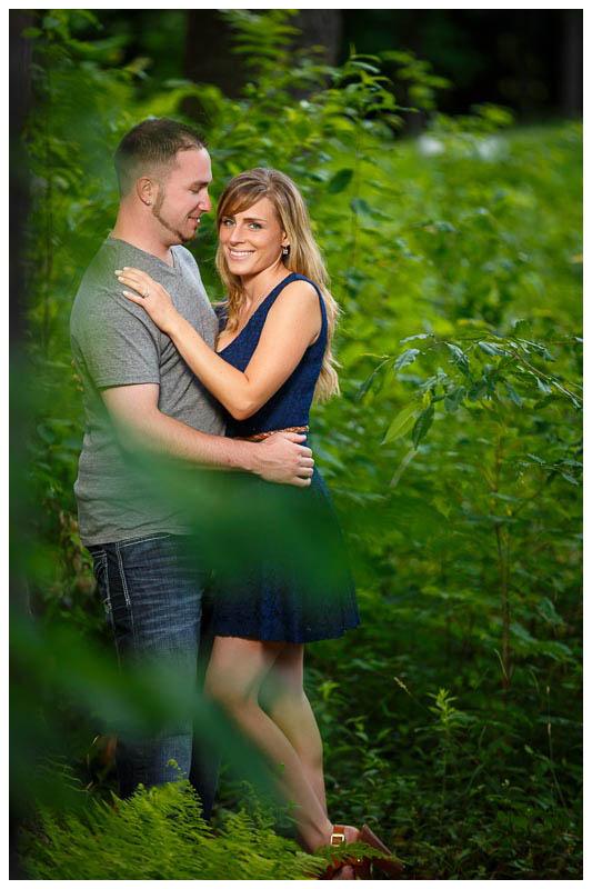 Romantic engagement photography