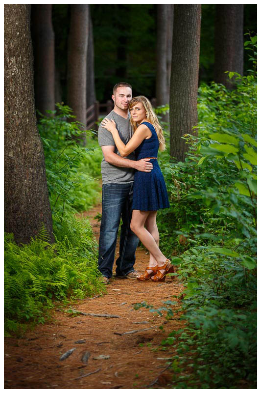 Engagement photography, outside on trial