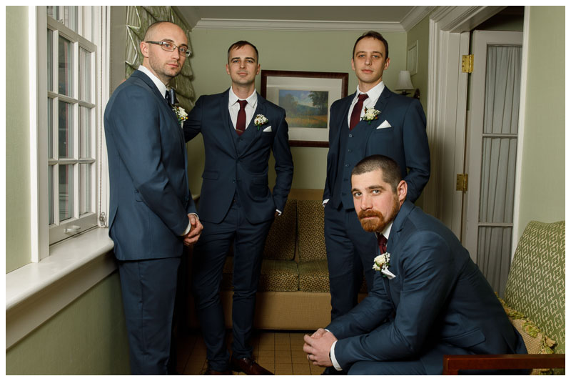 Groomsmen getting ready in a great pose
