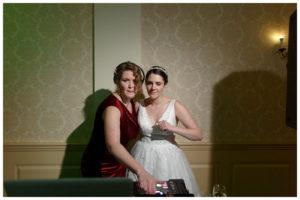 Bride with Dj during reception