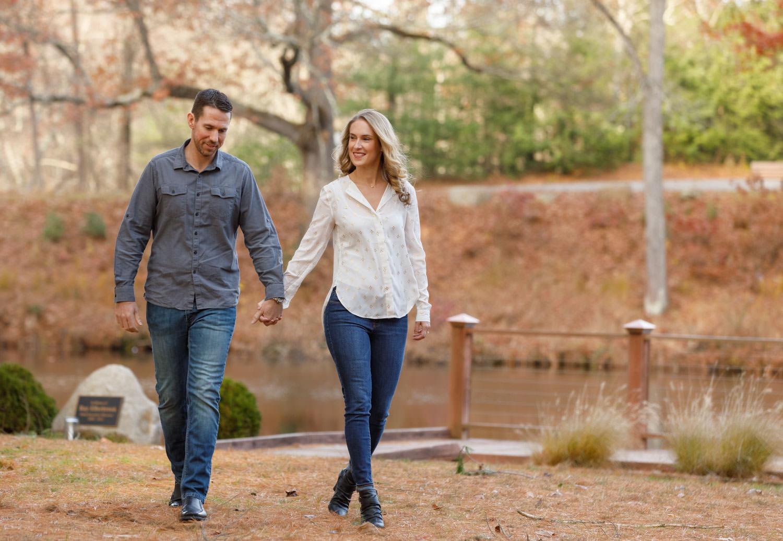 Western ma engagement photo