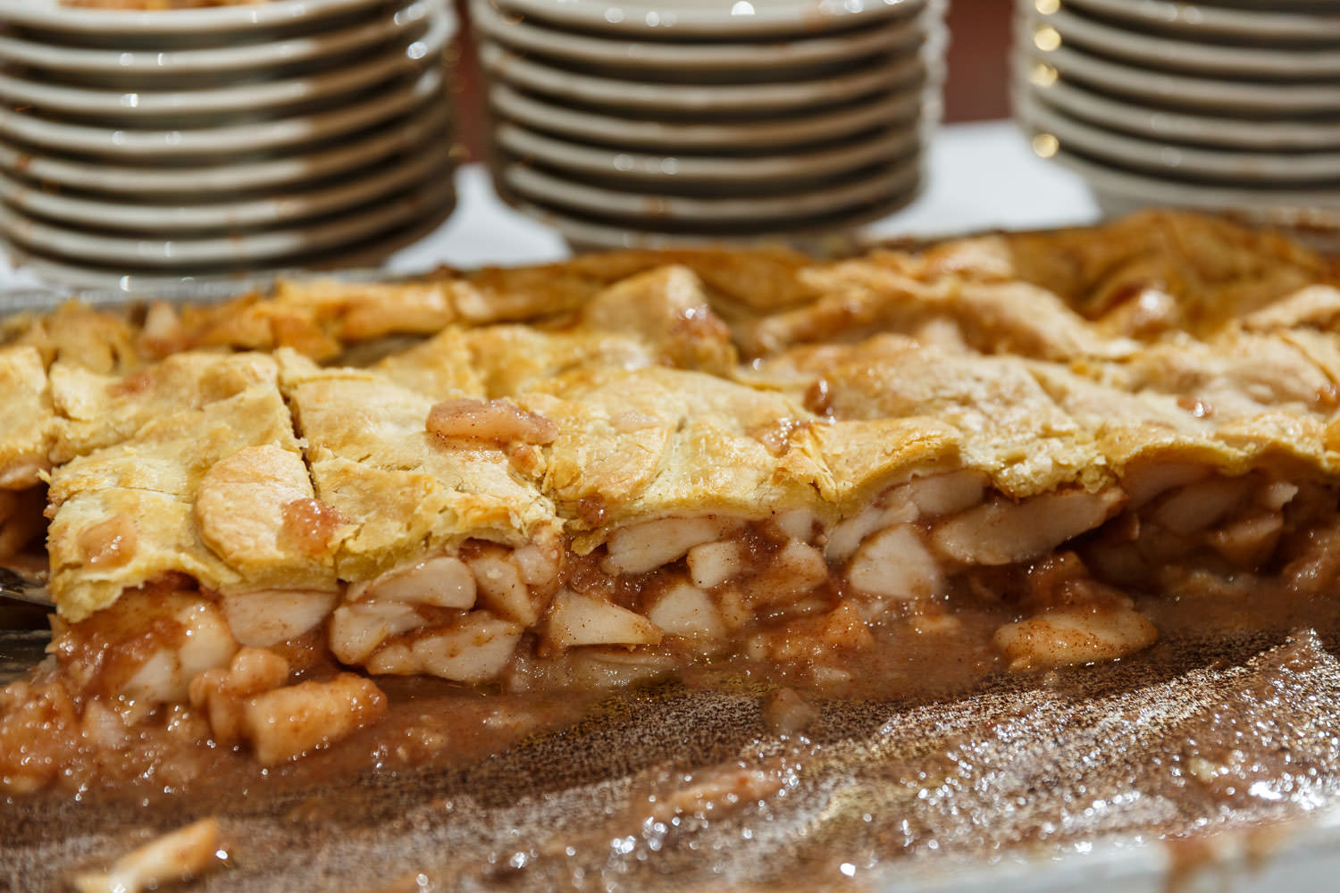 Close up photo of New England's best apple pie