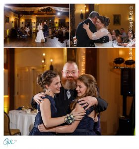 Bride and Groom First dance, Father dances with daughter and new daughter