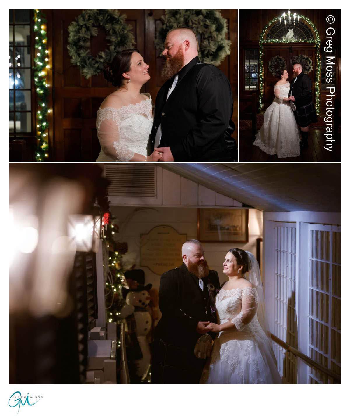 Night bridea and groom photo
