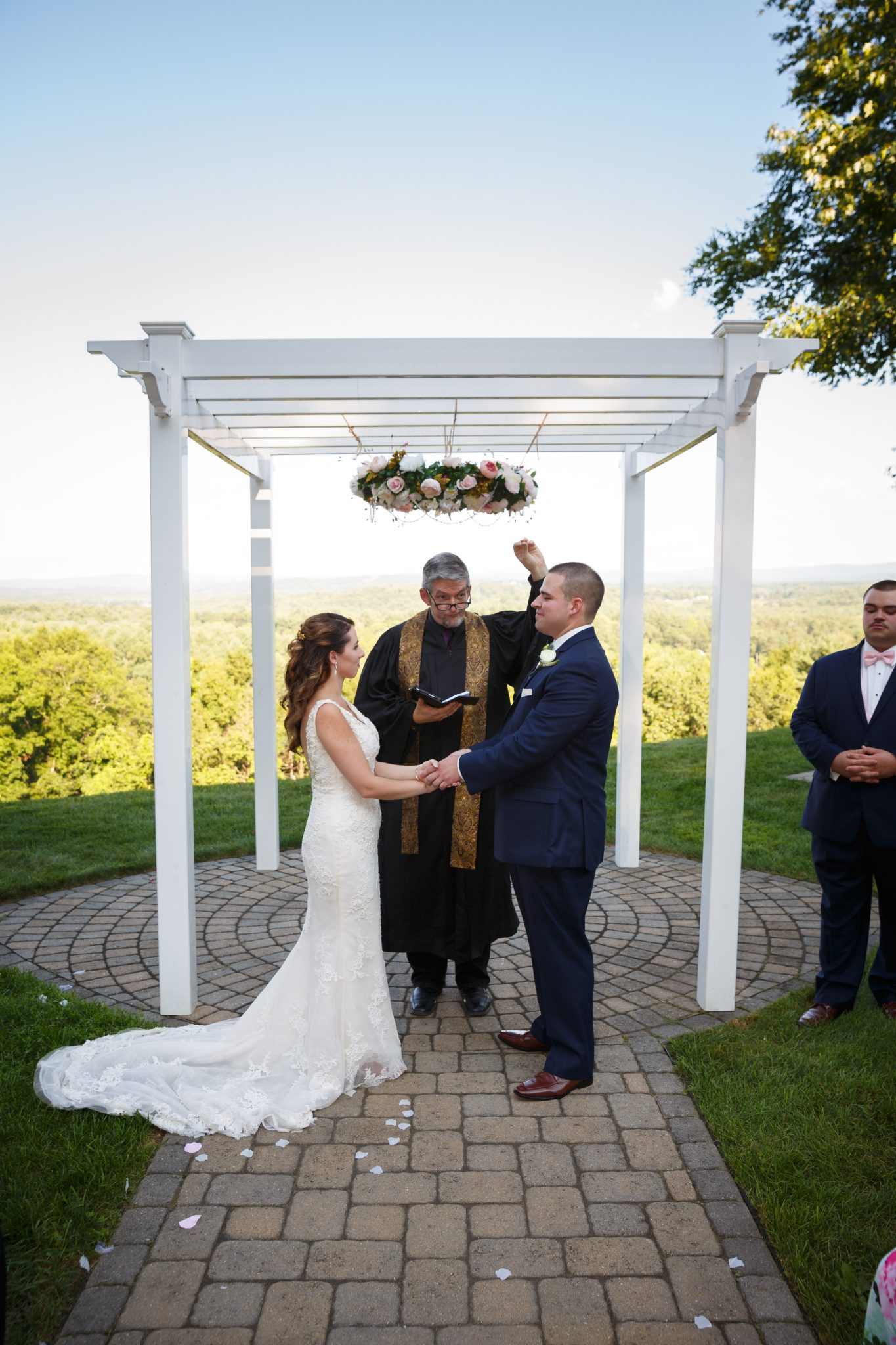 Ceremony photo at the Mountain Rose Inn Wedding