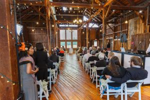 inside ceremony at the Red Barn