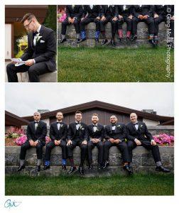 Groom reading letter from bride, Groom and groomsmen photos, Grooms interesting sock photo