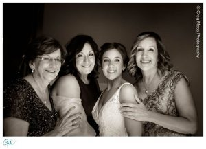 Bride, mother of the bride, Brides Aunt and Brides grandmother