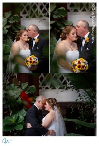 Bride and groom photos inside the building