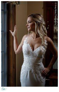 Beautiful Bride posed by window