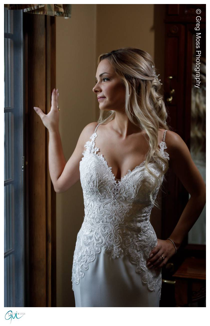 Beautiful Bride posed by window