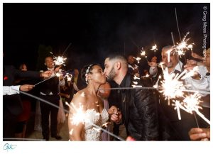 wedding exit sparkler photo