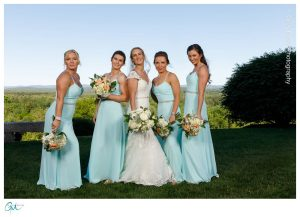 Bridal party with sassy pose