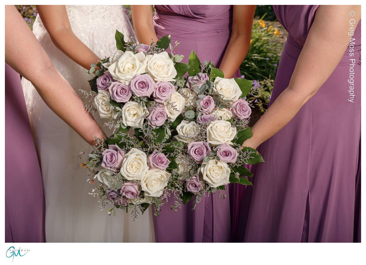 Gorgeous wedding flowers with lavender roses