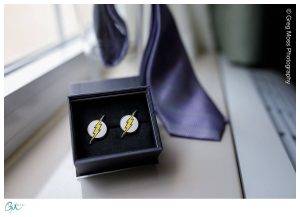 DC Flash cuff links as groomsmen gift