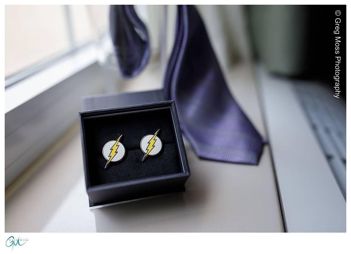 DC Flash cuff links as groomsmen gift