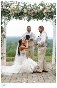 Bride got iced after ceremony