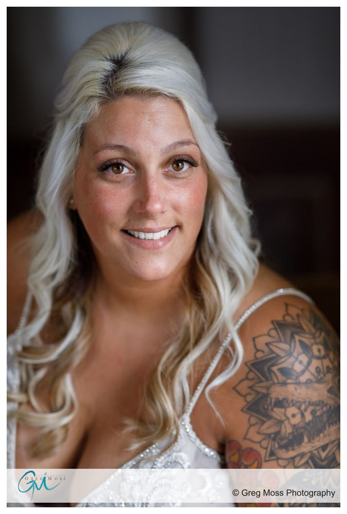 Bride with tattoos and Silver hair