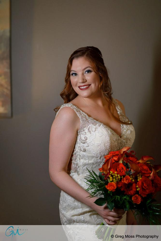 Portrait of bride on wedding day