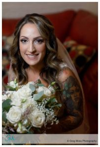 Bridal Portrait just before the ceremony with the ICELIght 2