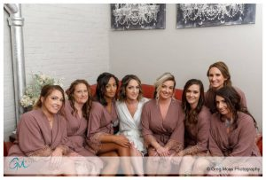 Bride and Bridesmaids with matching robes