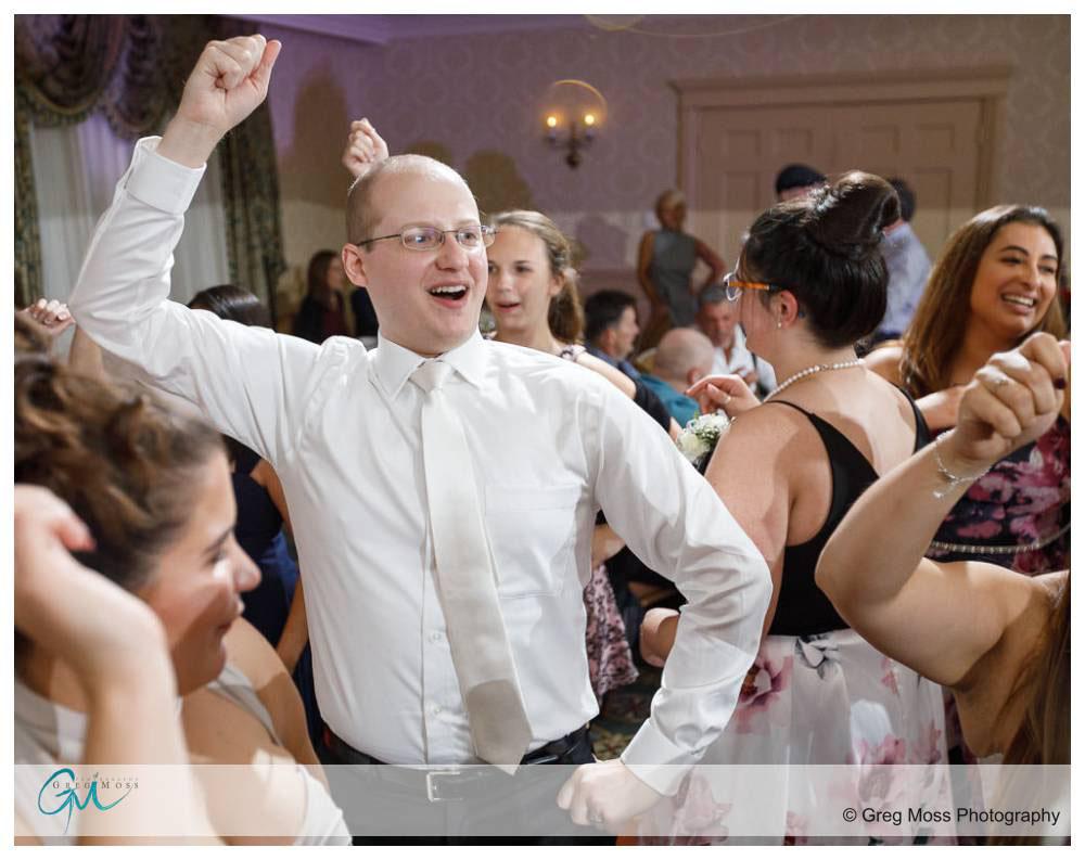 Groom having fun on the dance floor