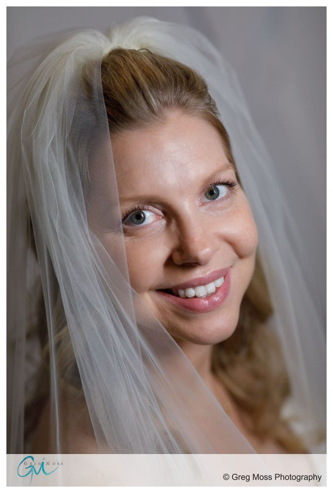 Bridal portrait with bride in her veil