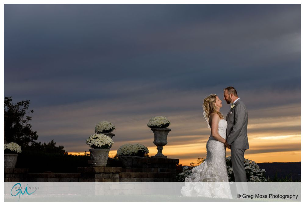 Bride and Groom wedding day sunset photo