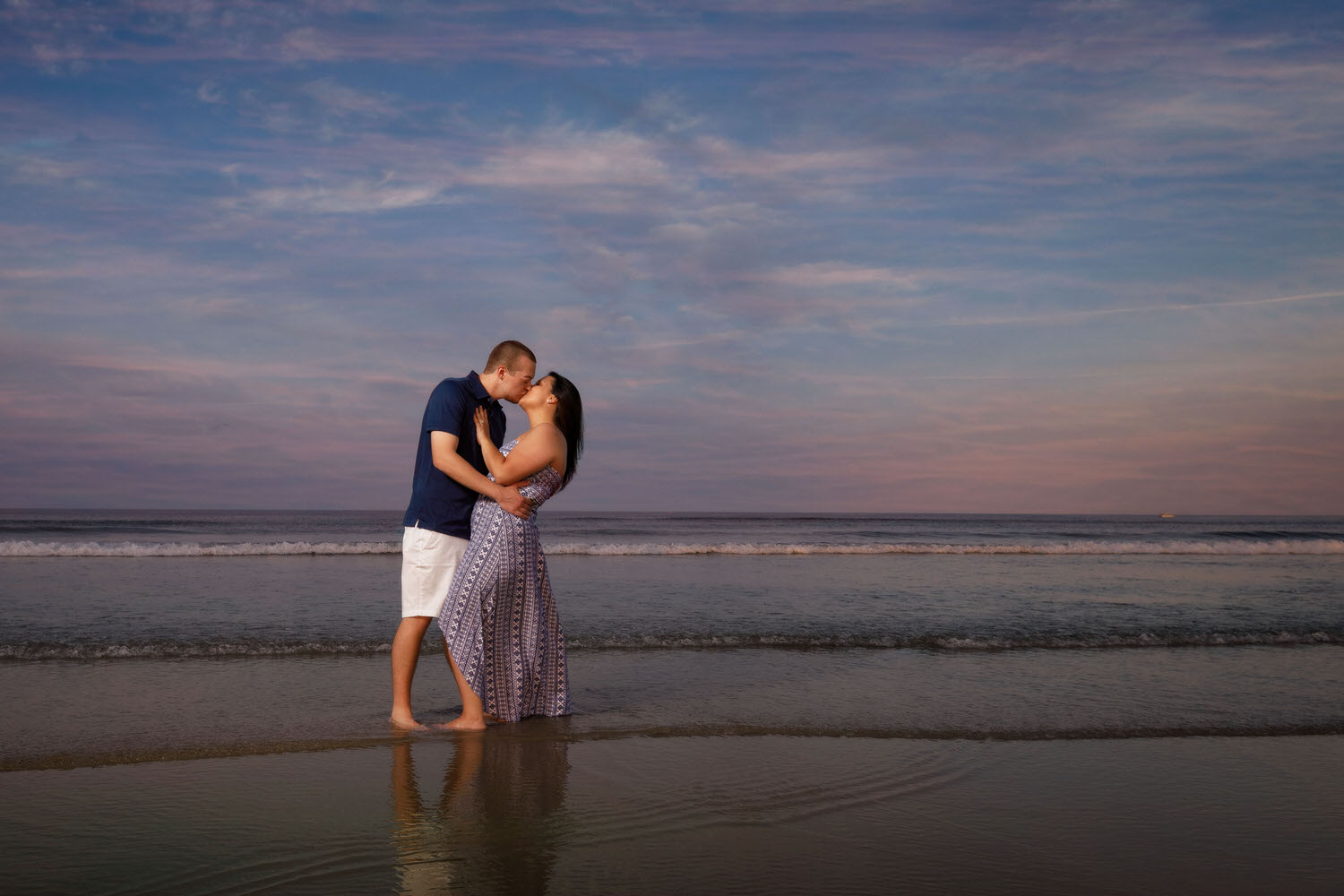 Maine engagement photo session at sunset
