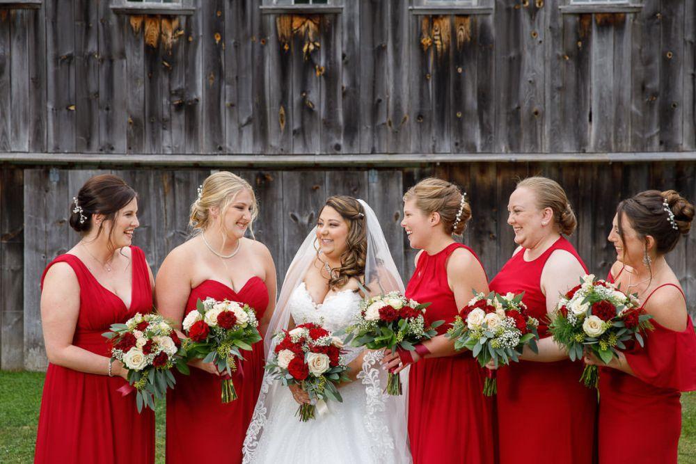 Outdoor rustic wedding photo