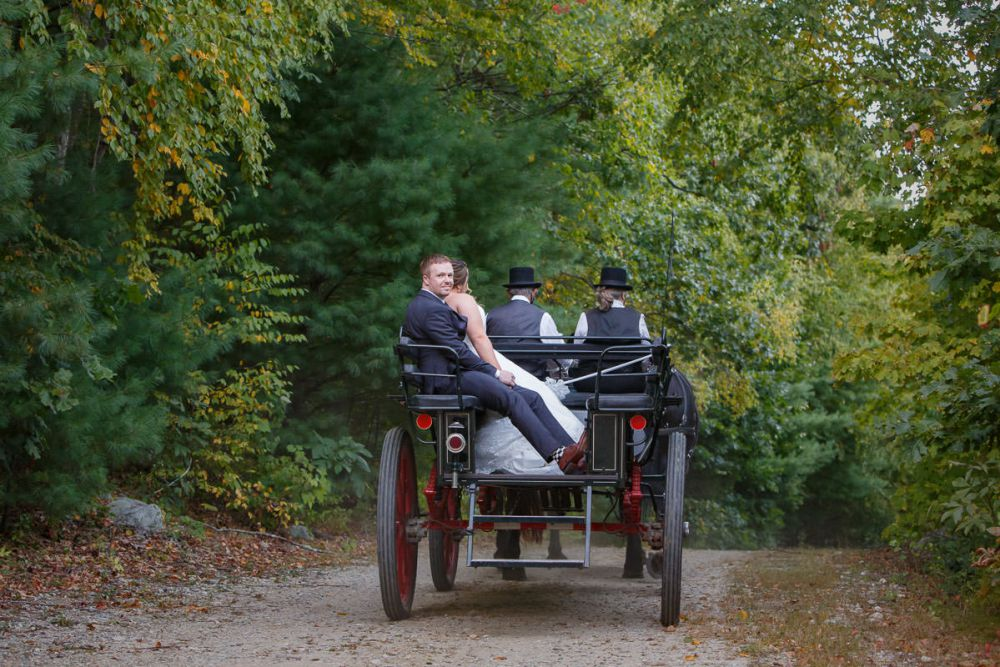 Horse carriage ride processional at Wrights mill farm