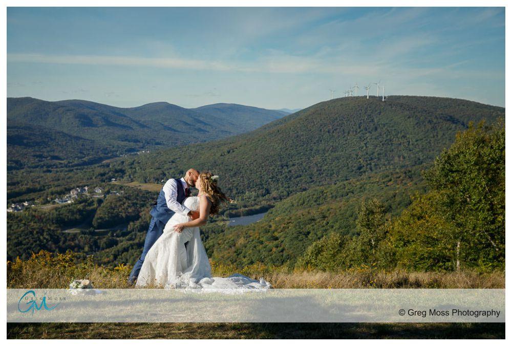 Jiminy peak summit wedding photo