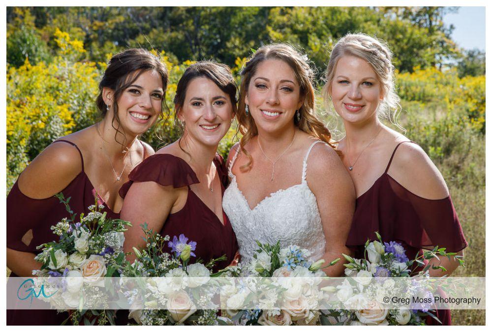 Jiminy peak wedding bridesmaids photo