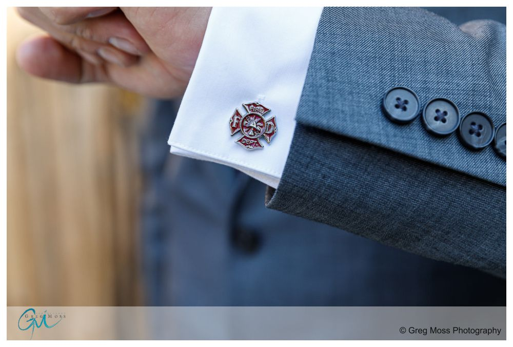 Groom's personalized cuff link