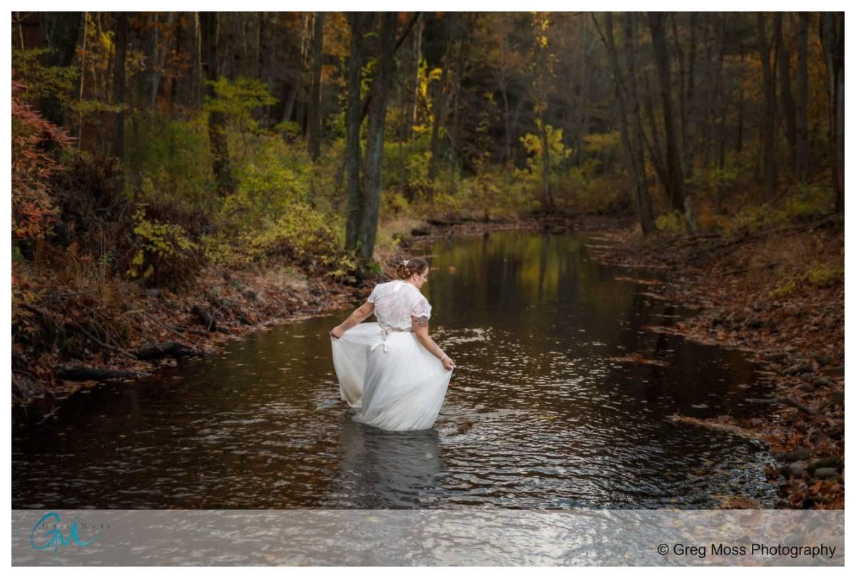Trash the dress at Fuller Brook