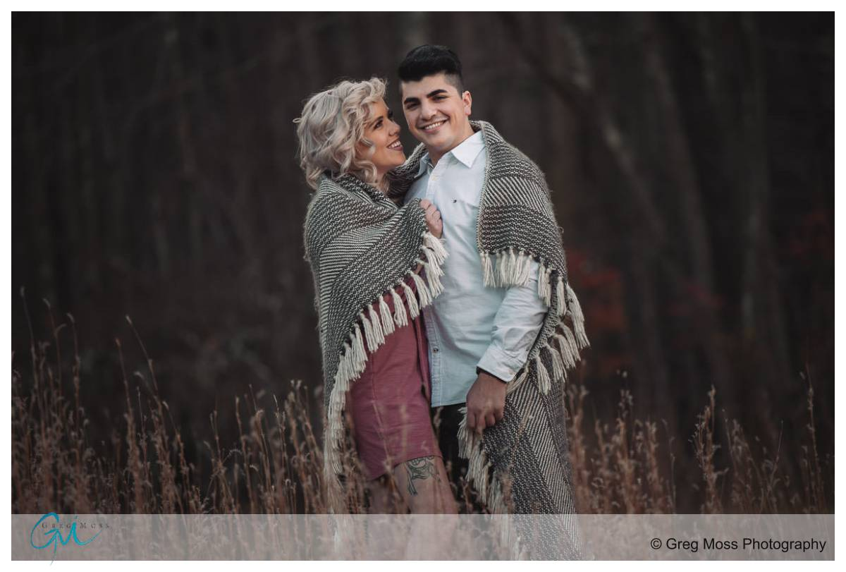 Engagement session in Quabbin Reservoir