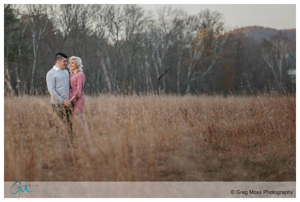 Fall engagement photo at hanks meadow