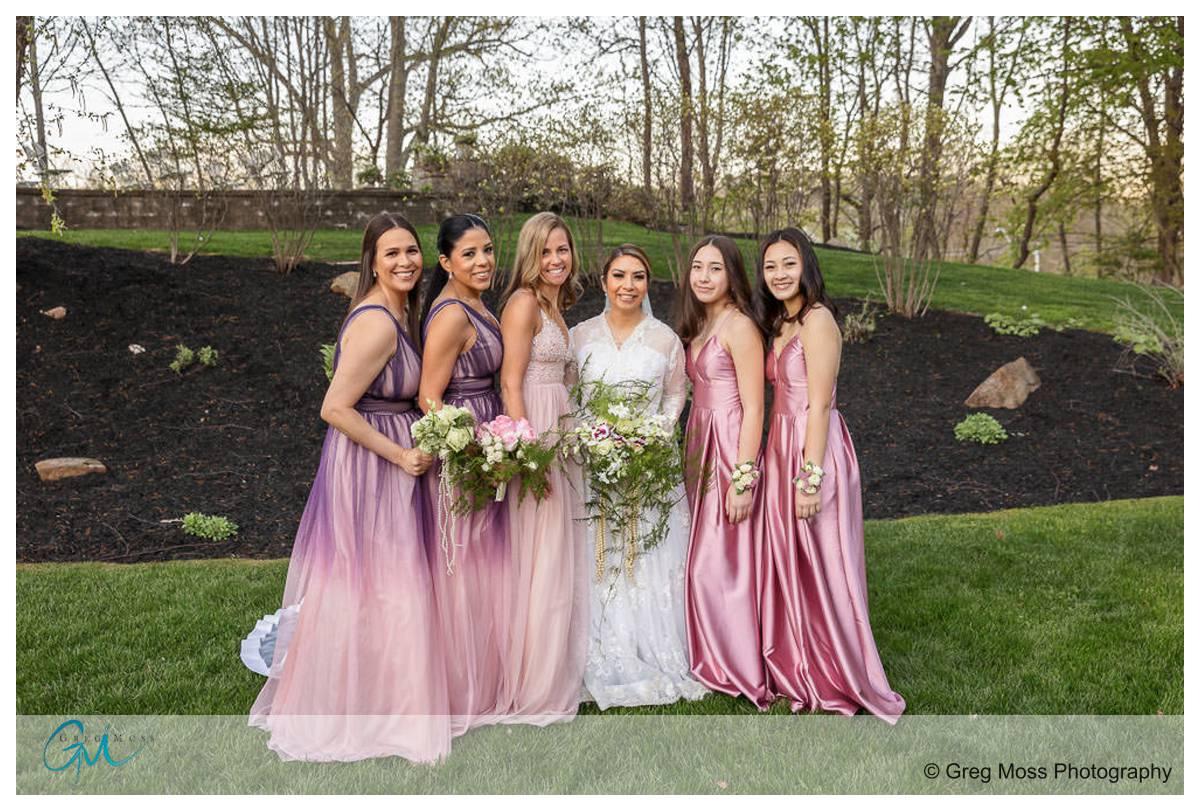 Bridal Party at the garden at