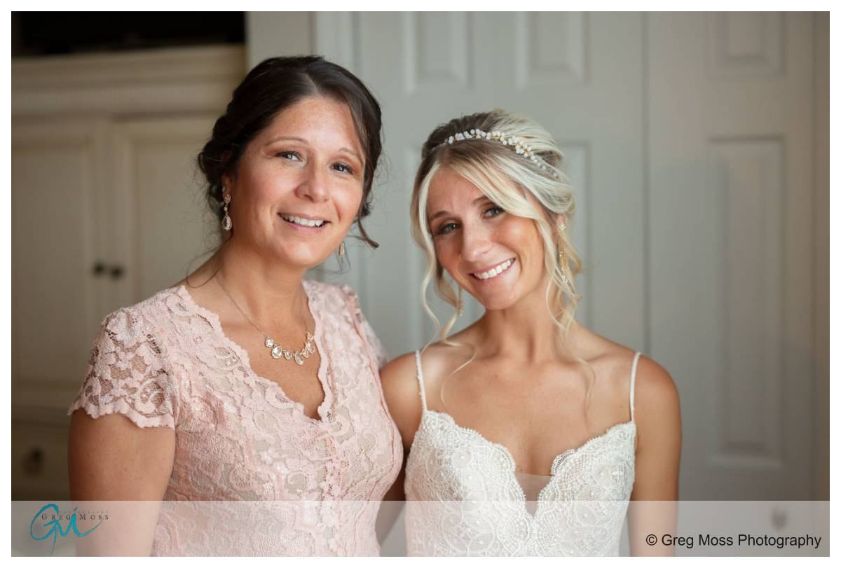 Bride and mother of the bride portrait.