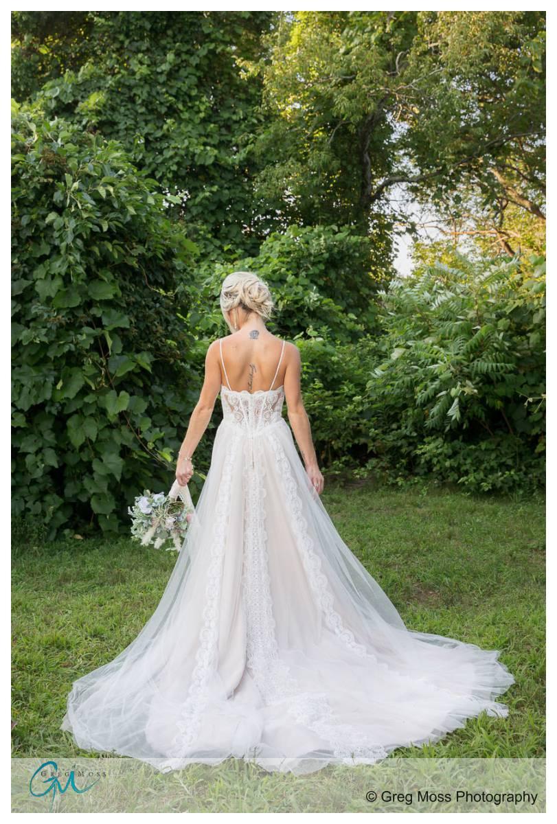 Beautiful back of dress photo