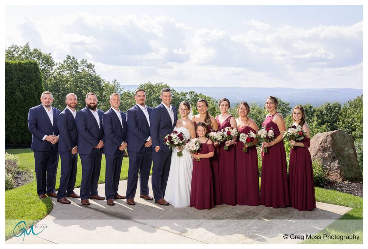 Full wedding party photo