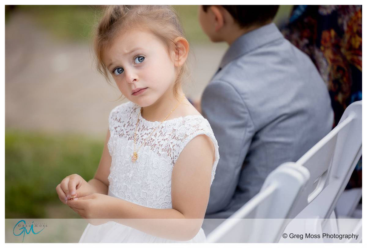 Flower girl during cereomony