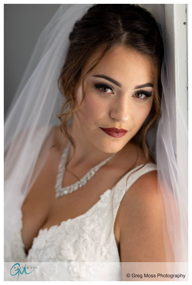 portrait of bride with window light