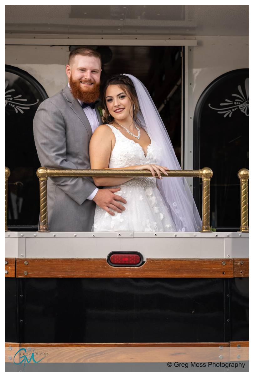 Bride and Groom portrait at the Boylston rooms