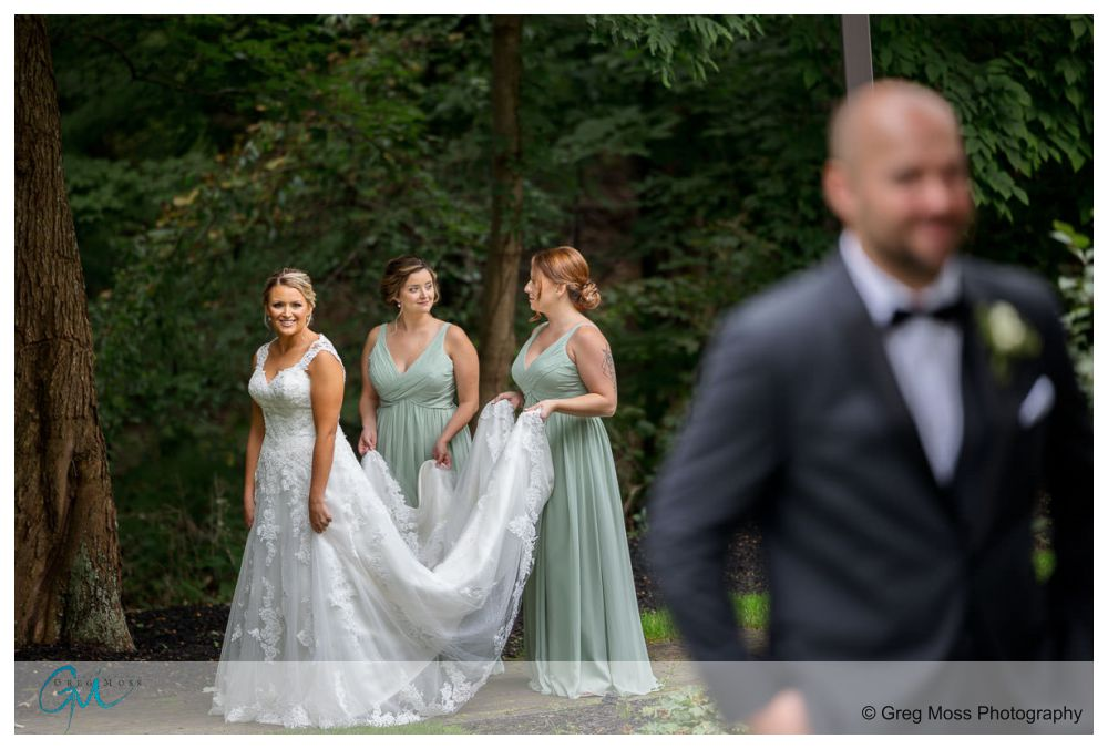 First look photos at the D Hotel wedding location