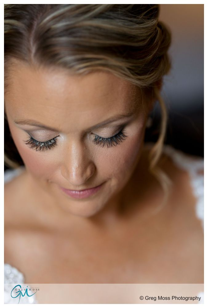 Close up photos of Brides eyelashes